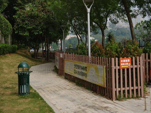 水塘馬路遛狗公園
